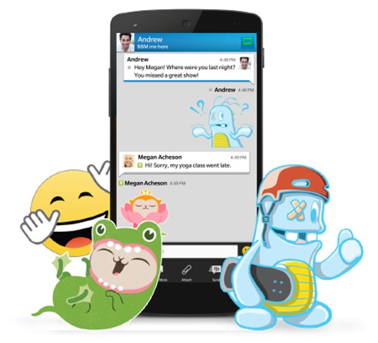 BBM Adds Stickers to Chat
