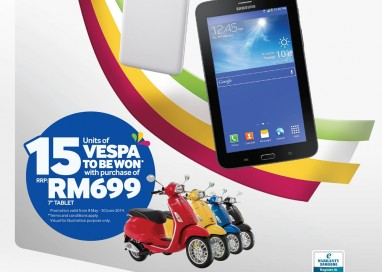 Buy a GALAXY Tab 3 Lite, Win a Vespa!