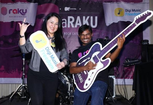 DIGI and RAKU to Rock Merdeka with negaRAKU@HardRockCafe Tour