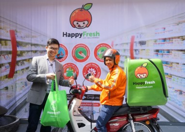 HappyFresh gets you your groceries at your door within the hour.