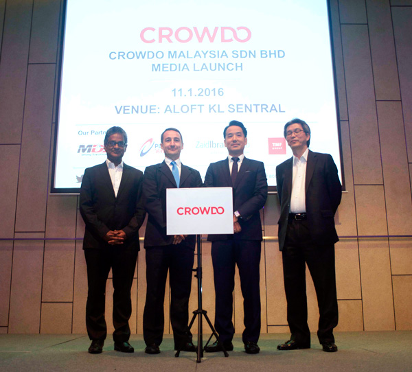 Crowdo launches Equity Crowdfunding in Malaysia with support by partners MDeC and Securities Commisions who were present to witness the launch.