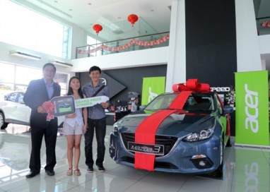 Acer Customer wins a Mazda 3 with Acer and Intel Campaign