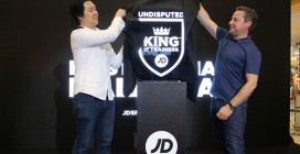 Justin Lim, CEO of JD Malaysia and Wayne Davies, Retail Director of JD UK & International at the official launch of JD Sports Malaysia in Sunway Pyramid.