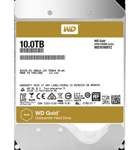 Western Digital increases WD Gold Hard Drives capacity by 25 percent