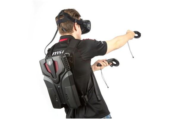 MSI VR One, the Lightest Futuristic VR Backpack debut in TGS 2016