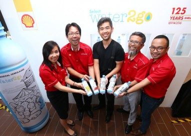 Shell launches Select water2go Bottles designed by artist Cheeming Boey