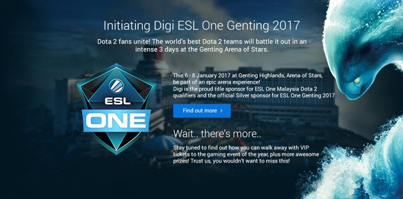 Digi sponsors First ESL One Dota 2 Malaysian Qualifiers