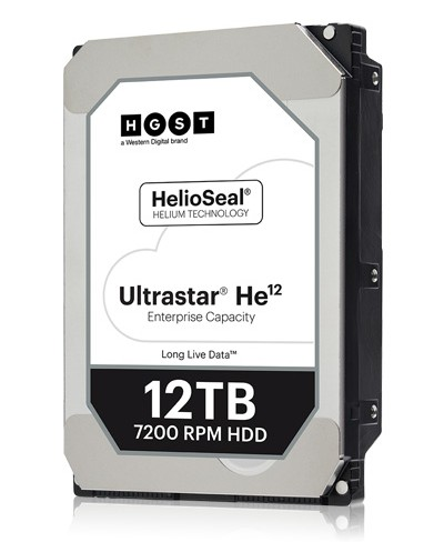 Western Digital ships Fourth-Generation Helium Hard Drive Platform with Ultrastar HE12 12TB Advanced Storage Hard Drives