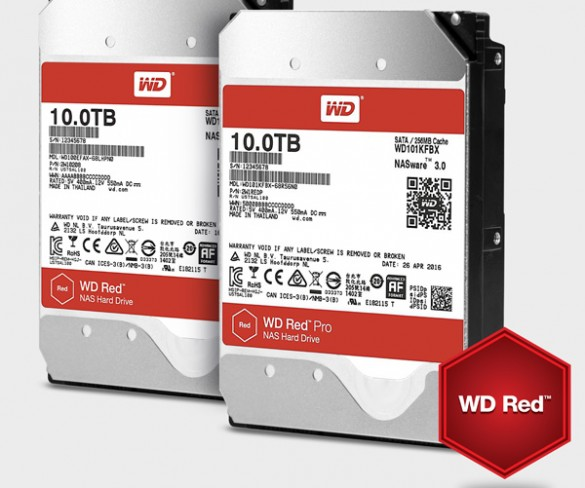 Western Digital expands NAS-Optimized Hard Drive offerings to 10TB with Advanced Storage Helium-Based WD Red and WD Red Pro Hard Drives