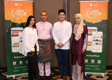 Celebrities Anzalna Nasir and Mira Filzah launch official shops on Shopee to celebrate Raya season
