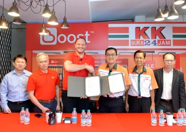 24/7 Convenience Chain Store, KK Super Mart jumps on cashless and cardless retail bandwagon with homegrown e-wallet app Boost