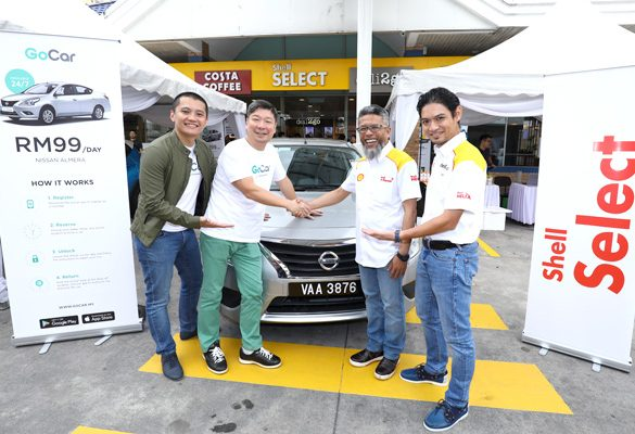 GoCar is now available at 100 Shell Stations in Malaysia
