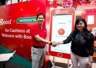 Boost makes shopping at Watsons Stores more rewarding