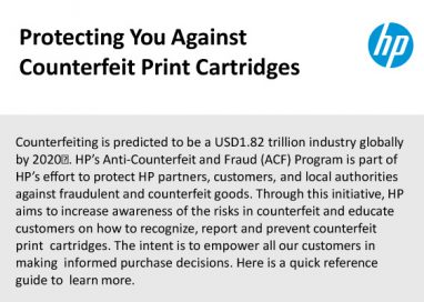 HP combats Counterfeit Print Cartridges in South East Asia with Anti-Counterfeiting and Fraud Program