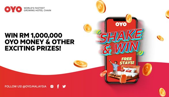 Shake & Win RM1,000,000 in OYO Money