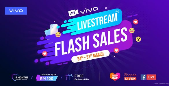 Enjoy Exciting Smartphone Deals with Vivo Live Stream Flash Sales!