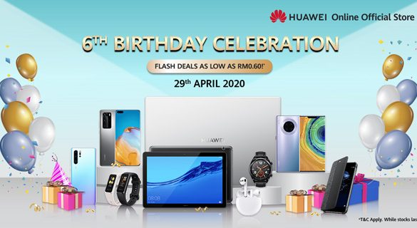 HUAWEI Online Official Store celebrates 6th Birthday with Amazing Deals as Low as RM0.60