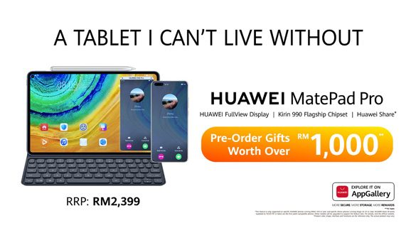 Pre-Order Online for Huawei Matepad Pro will begin on 3 April