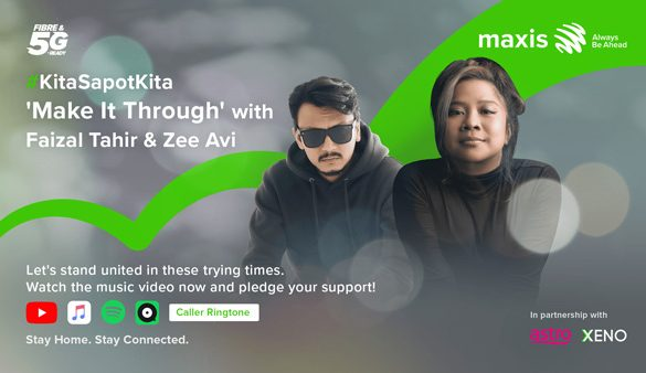 Maxis, Faizal Tahir, Zee Avi and more collaborate on Malaysia's first music video to convert social shares to donations