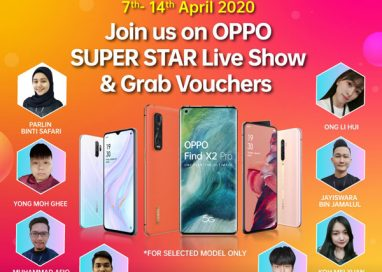 Catch OPPO Super Star Live Show on Lazada & Shopee App to grab vouchers worth up to RM625!
