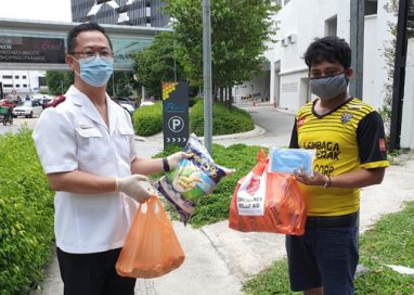 The Salvation Army distributes food aid to underprivileged people and families in the wake of the COVID-19 outbreak