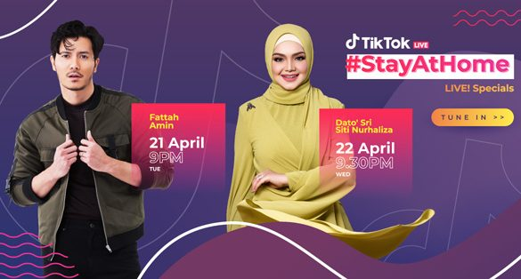 Entertainment Legends Dato' Sri Siti Nurhaliza and Fattah Amin join Malaysia's TikTok #StayAtHome Live! Specials