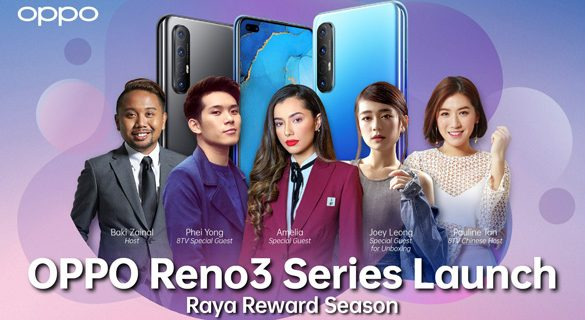 Catch the launch of OPPO Reno3 this May 12th with 15 units of Reno3 up for grabs