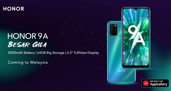 HONOR 9A confirmed Arrival in Malaysia, promises Big Battery, Big Storage and Big Screen!