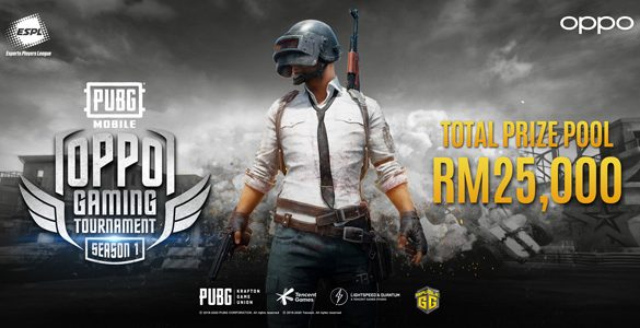 OPPO launches PUBG eSports Tournament with ESPL and Digi, offering Prizes worth up to RM25,000