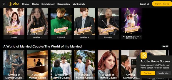 Viu ranks first by number of users amongst major video streaming platforms in Southeast Asia per Media Partners Asia's AMPD Research