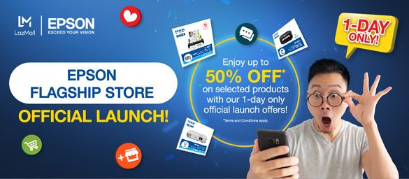 Epson offers up to 50% discount in celebration of their first flagship store on Lazada