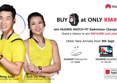 Goh Liu Ying and Chan Peng Soon invites you to join the HUAWEI WATCH FIT Badminton Championship