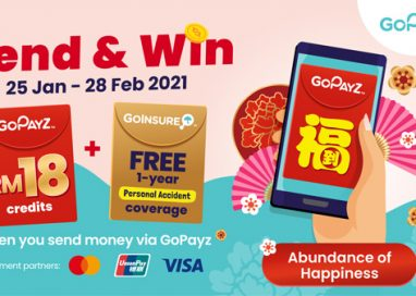 GoPayz Users sending CNY e-Angpows via the App's P2P Transfer Feature stand to win Year-Long Insurance Coverage and GoPayz Credit
