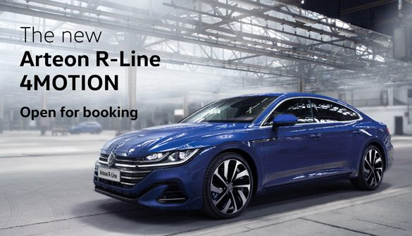 R you ready? The new Volkswagen Arteon R-Line 4MOTION now open for booking