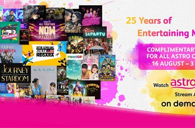 Astro's National Day and 25 Years of Serving Malaysians campaign