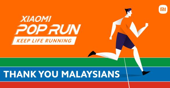 Xiaomi Pop Run 2021 garners over 66 Million Steps from Malaysians